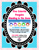 Five Colorful Penguins Standing in Snow Reader FREE Bonus
