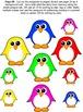 Five Colorful Penguins Standing in Snow Reader FREE Bonus