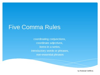 Five Comma Rules Powerpoint