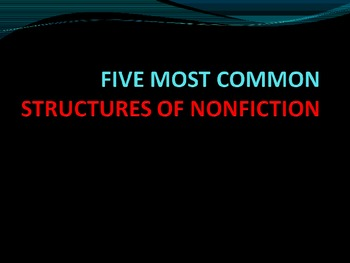 Five Common Text Structures