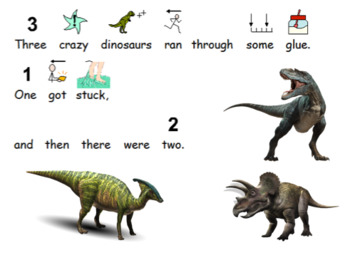 Five Crazy Dinosaurs - Rhyme with Symbols