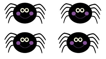 """Five Creepy Spiders"" Picture Cards"