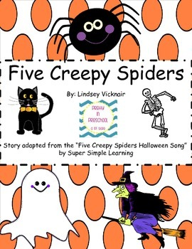 """Five Creepy Spiders"" Story"