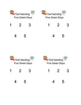 Five Day Behavior Charts