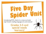 Five Day Cross-Curricular Unit on Spiders (Reading/Science