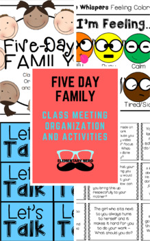 Five-Day Family - Class Meeting Organization and Activities