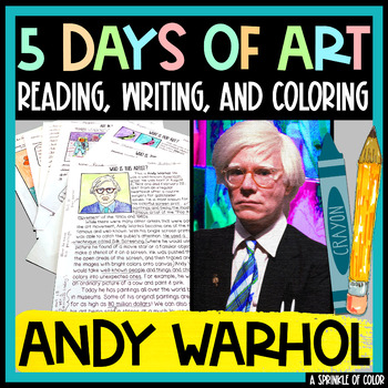 Five Days of Art - Andy Warhol Art History Lesson