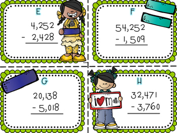 Five Digit Subtraction Scoot