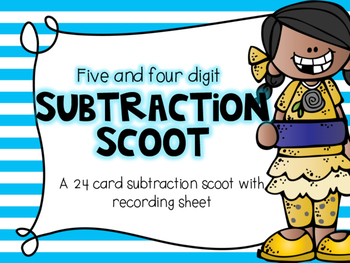 Five Digit Subtraction Scoot