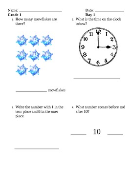 Five Easy Steps Math Review Grade 1