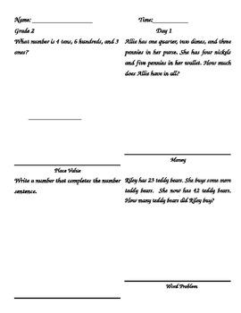 Five Easy Steps Math Review Grade 2 Set #2