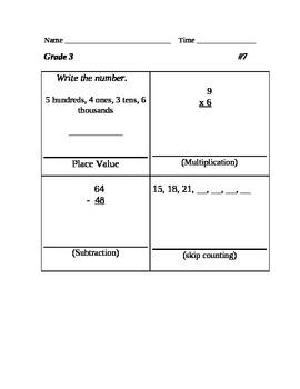 Five Easy Steps Math Review Grade 3 #1