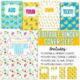 Five Editable Binder Cover Sets - Great for Teacher Binder