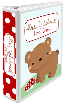 Five Editable Binder Cover Sets - Woodland Animals - For Data, Lesson Plans, etc