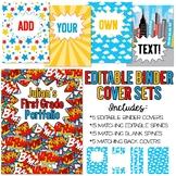 Five Editable Superhero Binder Cover Sets - Great for Teac