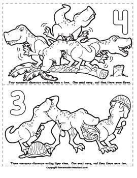 Five Enormous Dinosaurs Poem