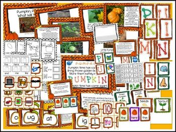 Five Fabulous PUMPKIN Literacy Centers for Word Work