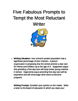 Five Fabulous Prompts to Tempt the Most Reluctant Writer