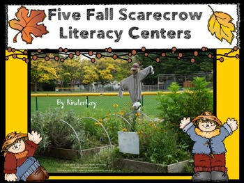 Five FALL Scarecrow Literacy Centers for Word Work