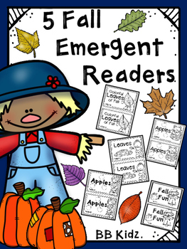 Five Fall Emergent Readers {Booklets are about Fall, Apples and Leaves}