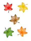 Five Fall Leaves: Speech Therapy