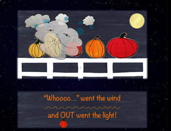Five Fall Pumpkins Sitting on a Gate, ANIMATED!