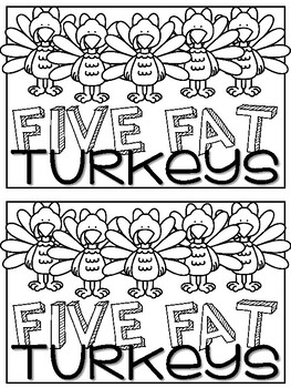 Five Fat Turkeys Emergent Reader