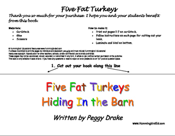 Five Fat Turkeys Hiding In the Barn - a Flip and Countdown Book
