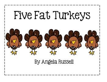 Five Fat Turkeys ~ Pocket Chart Story