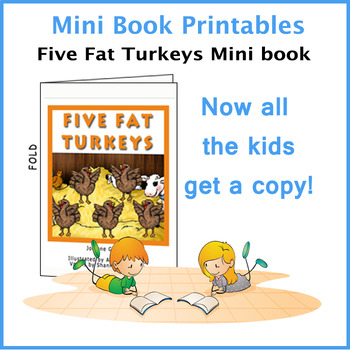 Five Fat Turkeys Reproducible Mini Book