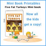Five Fat Turkeys Printable Mini Book