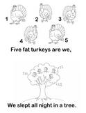 Five Fat Turkeys, Thanksgiving reader