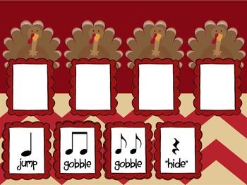 Mimio: Five Fat Turkeys & Rhythms for the Kodaly or Orff Classroom