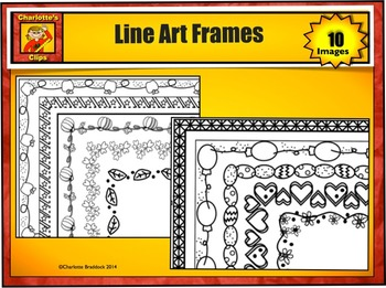 Black and White Festive Holiday Frames - Borders by Charlotte's Clips