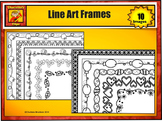 Black and White Festive Holiday Frames - Borders by Charlo