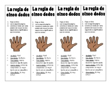 Five Finger Bookmarks in Spanish