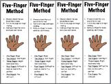 Five Finger Method for Choosing a Book Bookmarks