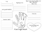 Five-Finger Retell Graphic Organizer