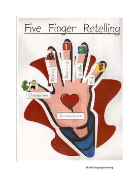 Five Finger Retell Graphic Organizer and Poster