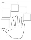 Five Finger Retell Worksheet - Editable