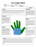 Five Finger Retelling Graphic Organizer