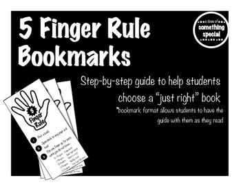 Five Finger Rule Bookmark