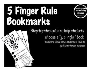 Five Finger Rule Bookmark
