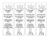 Five Finger Rule Bookmarks