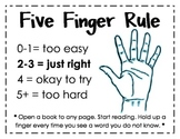 Five Finger Rule Poster