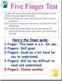 Five Finger Test Poster