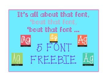 Five Font Freebie