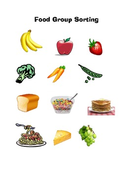 Five Food Groups Workbook for Preschool