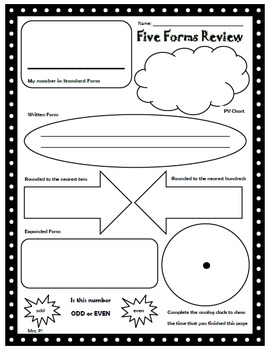 Five Forms Graphic Organizer