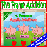 Kindergarten Addition Five Frames